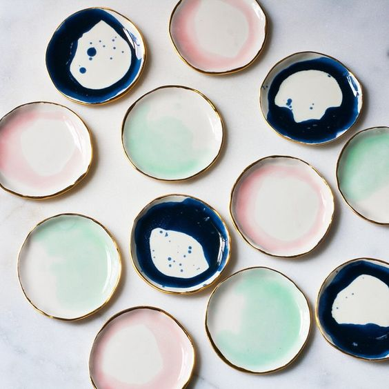 Stacks and stacks of Ring Dishes fresh from the kiln this morning! I shared the kiln opening on @snapchat, did you see it? I'm @suiteonestudio there too! Come follow along!