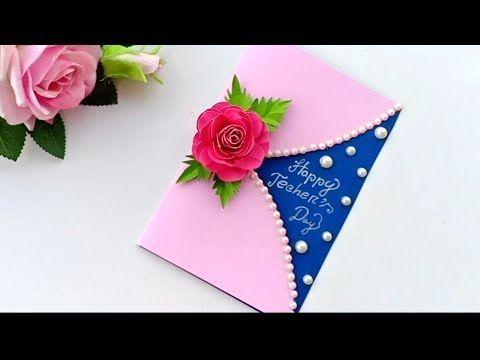 Diy Teacher S Day Card Handmade Teachers Day Card Making Idea Youtube Teachers Day Card Cards Handmade Teachers Diy