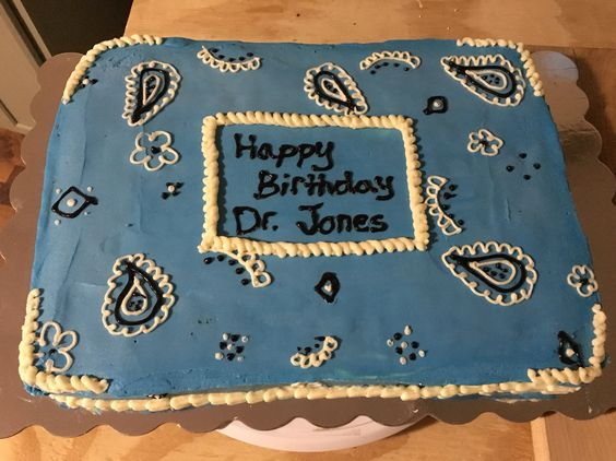 Bandana Blue Cake Buckley Cakes Pinterest