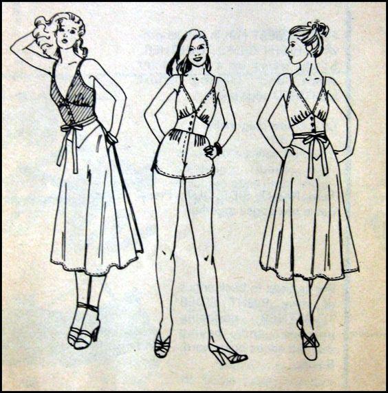 Playsuit & Bias Wrap Skirt