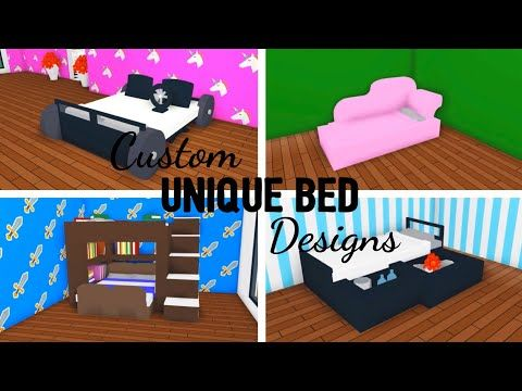 5 Custom Bed Design Ideas Building Hacks Adopt Me Roblox Race Car Drawers Bunk Bed Part Two Youtube Cute Room Ideas Custom Bed Unique Bed Design