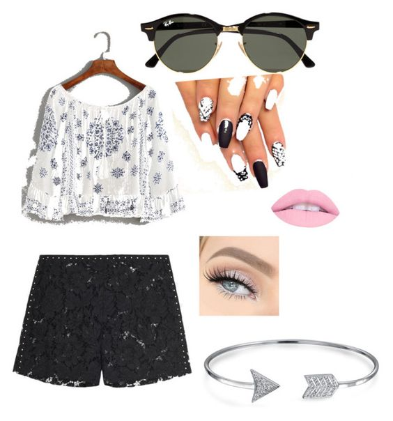 """Untitled #2"" by boschabbie on Polyvore featuring Valentino, Ray-Ban and Bling Jewelry"