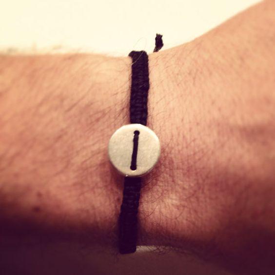 Unisex macrame bracelet by AroundMyWrist on Etsy, 11.00