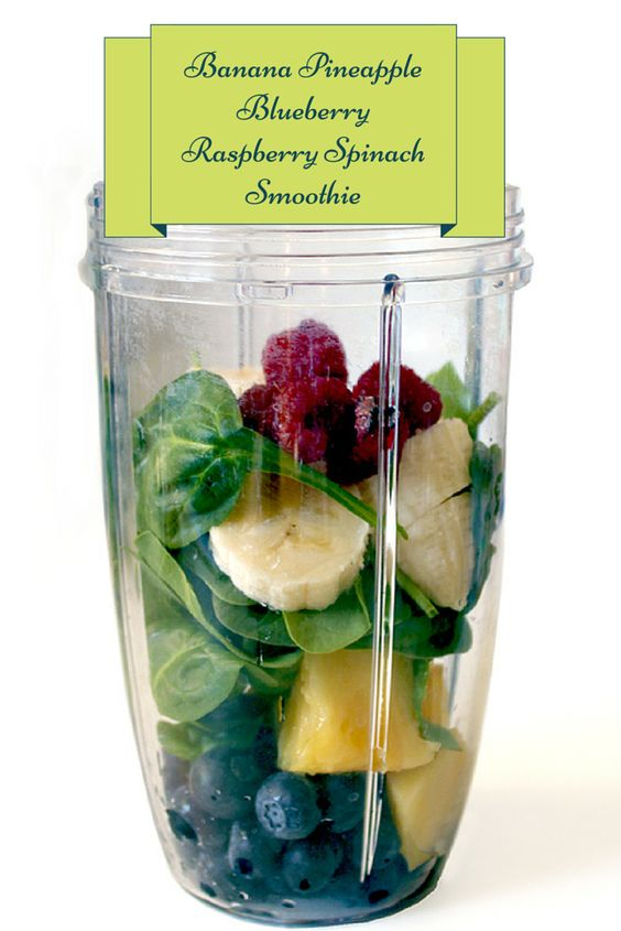 Healthy Smoothie Recipes: Healthy Smoothies For Weight Loss - Banana Pinapple Raspberry Spinach Blueberry Smoothie. Sounds delicious!