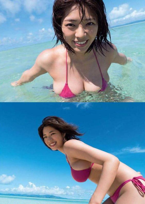 海で遊ぶわちみなみのエロ可愛い画像