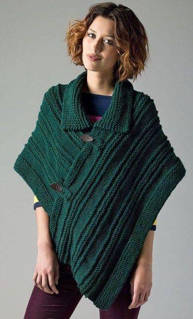Poncho knitting patterns, Knitting patterns and Ponchos on Pinterest