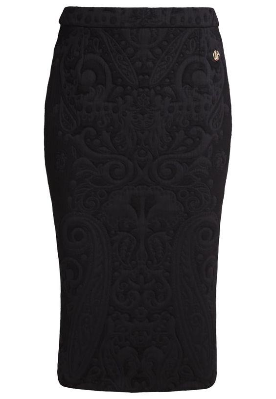Versace Jeans Bleistiftrock black Premium bei Zalando.de | Material Oberstoff: 73% Polyester, 15% Viskose, 10% Polyamid, 2% Elasthan | Premium jetzt versandkostenfrei bei Zalando.de bestellen!