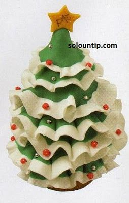 Christmas tree in cold porcelain