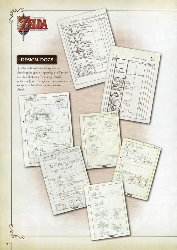 Zelda storyboards