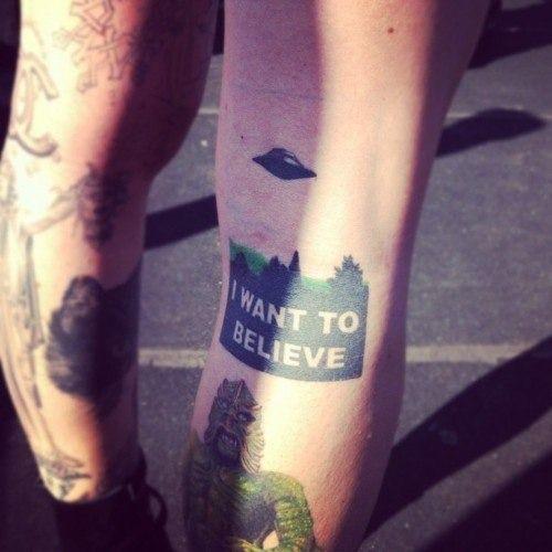 X Files Tattoo Ideas: The X-Files Tattoo 'I Want To Believe'
