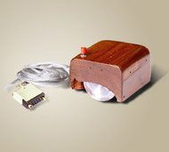 A prototype of the first computer mouse, which was invented in 1964 by Dr. Engelbart and constructed by two of his associates.