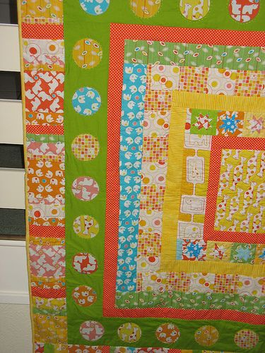 Siblings Together Quilt  Close up of part of a border