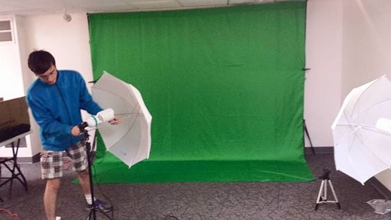 Doris Hutley - Rachel and family setting up green screen for our our Photo op and also fund raiser for Wolf Sanctuary. Rachel has 6 backgrounds 2 Star Trek, 2 Star Wars, and 2 Dr Who. Come on out to Free Comic Book Day at Comics Closet in Shrewsbury!