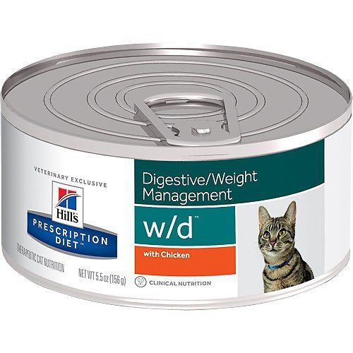 Buy Hill S Prescription Diet W D Digestive Weight Management With Chicken Canned Cat Food 5 5 Oz C Hills Prescription Diet Canned Cat Food Food Sensitivities