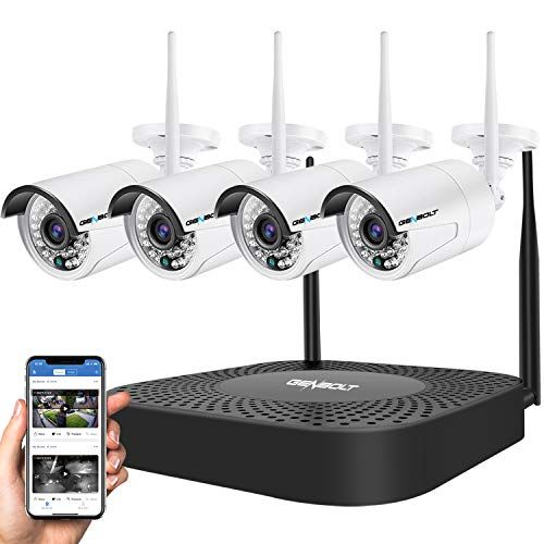 Wireless Security Camera System Genbolt Outdoor 1080p Home Wifi Security Surveillance Camera System 8 Channels Full Hd 1080p Video Record Nvr With 4pcs 1080p Onvif Ip Network Cameras No Hdd In 2020