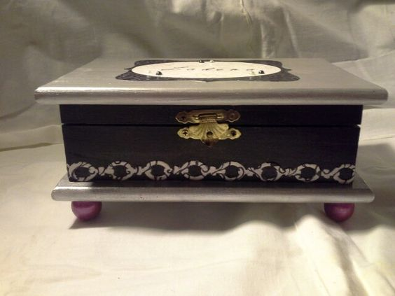 Wood Crafts - Beautiful hand crafted box by Enchanted Giftss  on Etsy- sold.