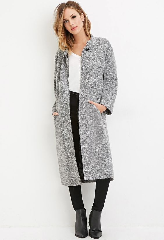 Buttoned Wool-Blend Coat - Shop All - 2000140872 - Forever 21 EU