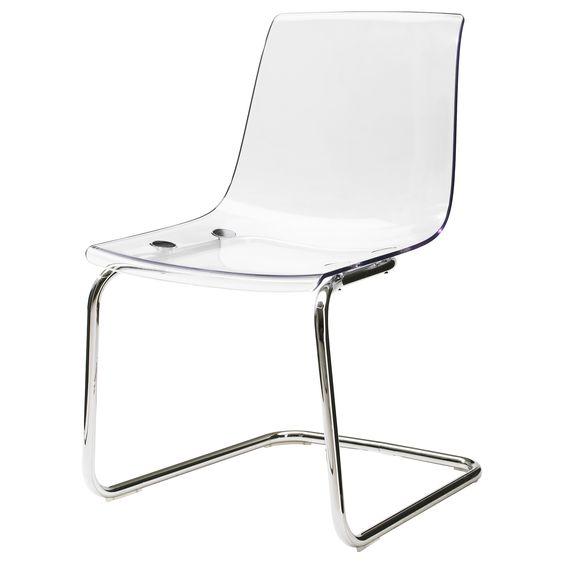 TOBIAS Stuhl - transparent/verchromt - IKEA