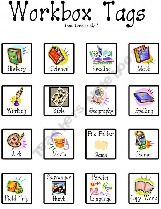 Workbox Tags And Planner Free Homeschool Workbox System Pinterest Planners Tags And Products
