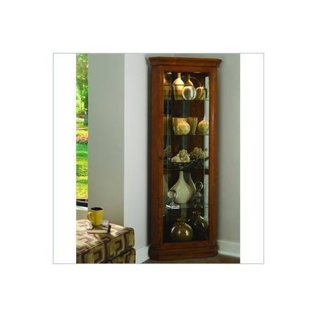 "Pulaski Golden Oak II 72"""" Corner Curio Cabinet"