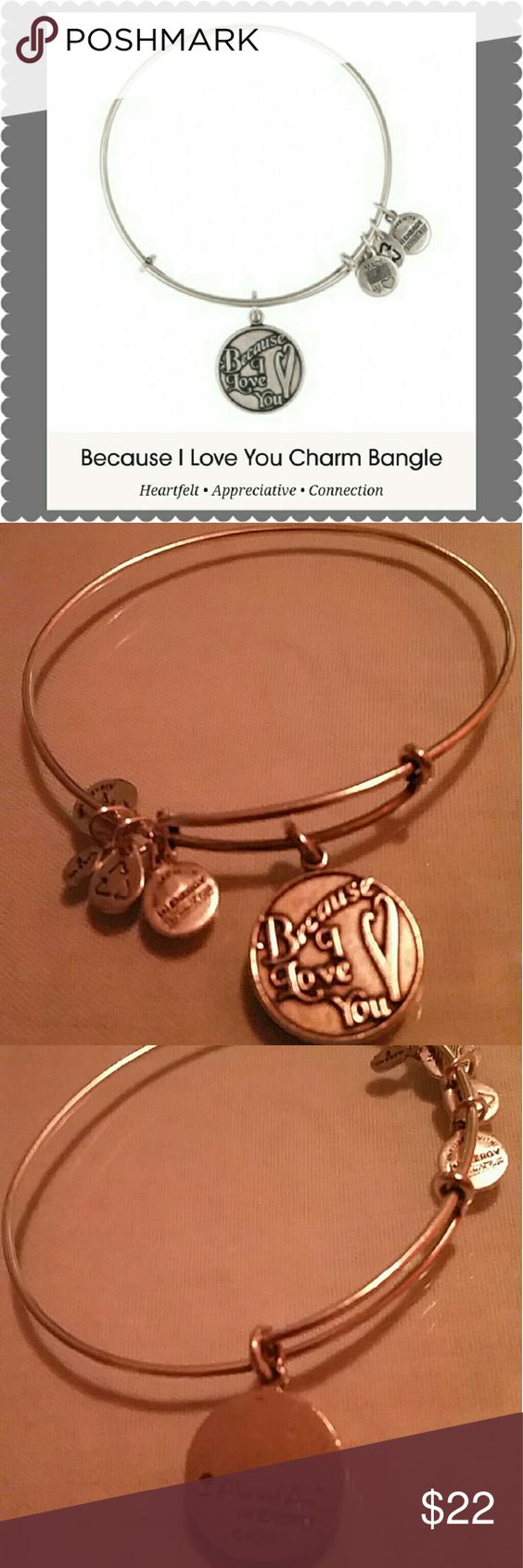 I love you Alex & Ani Bracelet Really cute authentic bracelet to add to your collection. It is in good condition!! :) Alex & Ani Jewelry Bracelets