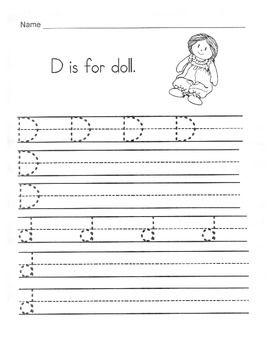 5 Letter D Worksheets / Alphabet & Phonics Worksheets / Letter of ...