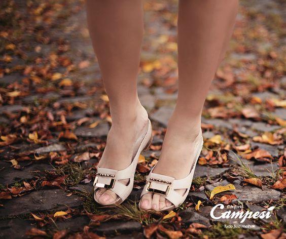 A leveza dos calçados Campesí vai conquistar você. Experimente e sinta como tudo fica melhor.