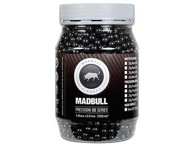 Mad Bull Snipe Grade 6mm plastic airsoft BBs, 0.43g, 2,000 rds, black by Mad Bull. Save 25 Off!. $22.45. Take aim and fire with Mad Bull Snipe Grade 6mm Plastic Airsoft BBs . These polished, high quality BBs allow your sniper rifle to fire smoothly and accurately, and are an essential upgrade for high-powered skirmish scenarios. 6mm Plastic Airsoft BBs 5.95 +/- 0.01mm diameter with precision lapping and polishing process 0.43g 2,000 Rds Black