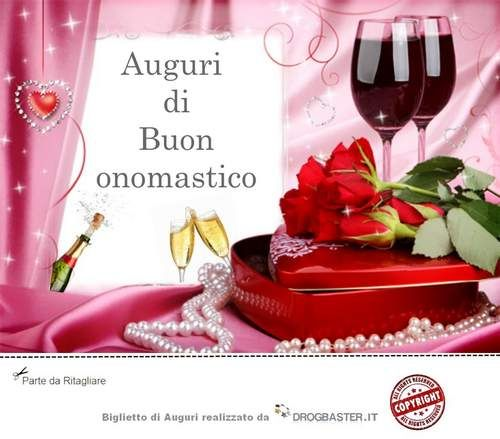 Extrêmement Auguri onomastico da inviare gratis | BUON ONOMASTICO | Pinterest GA31