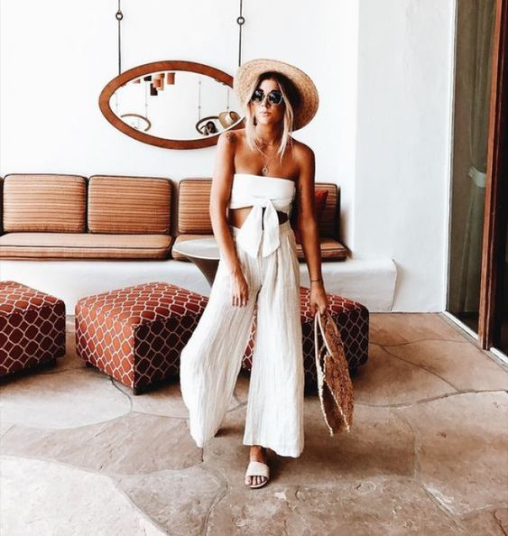 Looks de verano con pantalón palazzo