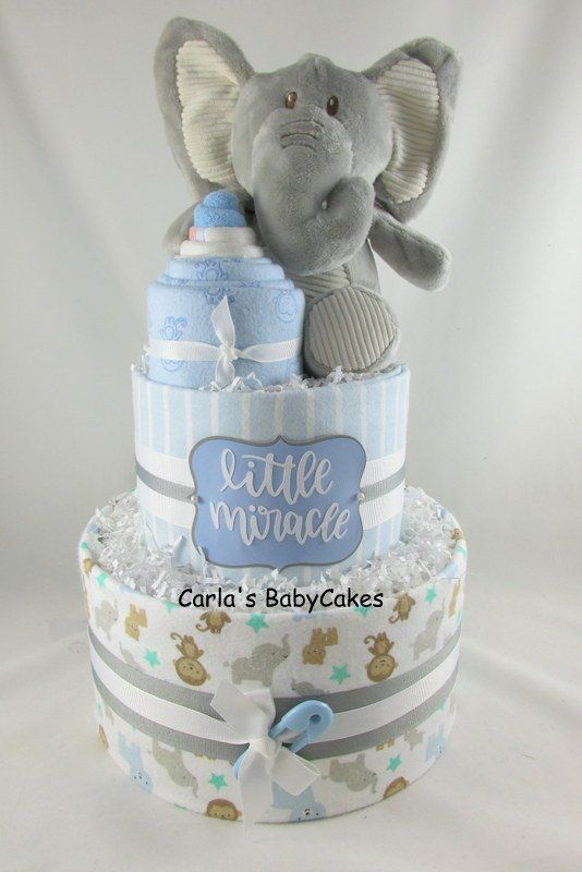 Boy Diaper Cake Elephant Diaper Cake Baby Diaper Cake Baby Shower Gift Unique Baby Boy Baby Shower Centerpieces Baby Shower Souvenirs Boy Baby Shower Gifts