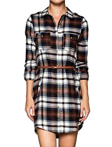 makeitmint Women's Roll Up Long Plaid Shirt Dress w/ Belt Medium YOD0023_Brown makeitmint http://www.amazon.com/dp/B014S5OARG/ref=cm_sw_r_pi_dp_Aj9xwb0RF71GB