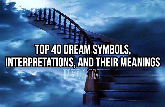 Top 40 Dream Symbols, Interpretations, And Their Meanings  in5d in 5d in5d.com www.in5d.com http://in5d.com/ body mind soul spirit BodyMindSoulSpirit.com http://bodymindsoulspirit.com/