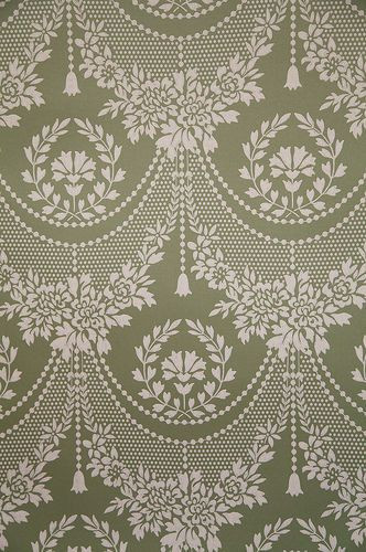 RARE Historic Handprinted Wallpaper, Quincy Lace Waterhouse 2 New Double Rolls  #WaterhouseWallhangings