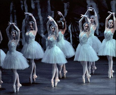 The corps de ballet in Peter Martins' Swan Lake  Photo by Paul Kolnik