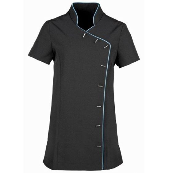 Premier Ladies/WomensLily Tunic/Health Beauty & Spa/Workwear (8 US) (Black / Turquoise)
