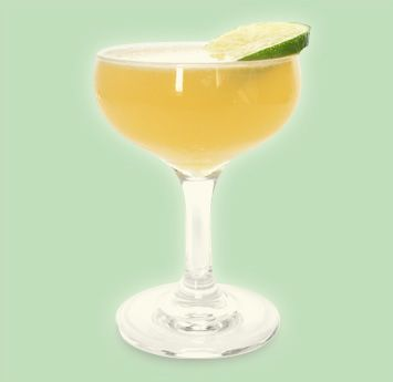 VPB DAIQUIRI: 2 PARTS Aged Rum, 1 PART St-Germain, ¾ PART Freshly Squeezed Lime Juice. Shake all ingredients with ice and strain into a chilled coupe or Martini glass. Garnish with a lime wheel.