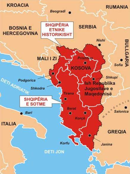 Cartina Albania Fisica.Albania Etnica Wikipedia Albania Beograd Serbia