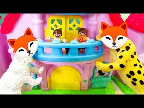 رؤى خدعت الذئب الشرير عائلة عمر جنه ورؤى أفلام بلاى Playmobil Youtube Toy Chest Decor Toys