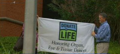 Donate Life Organ and Tissue Donation Blog℠: East Alabama Medical Center raises flag saluting gift of life.
