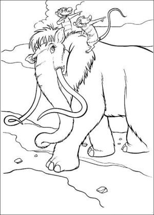 Ice age coloring page 38