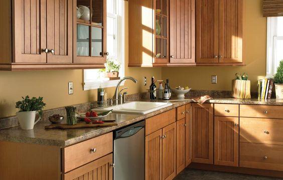 Formica countertops formica butternut granite laminate for Butternut kitchen cabinets