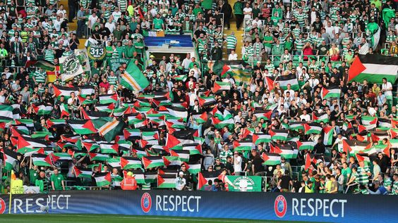 Celtic supporters have courted controversy by waving the Palestine flag at a…