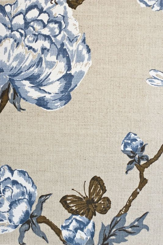 tree peony upholstery fabric light stone linen mix upholstery fabric with hand printed floral design in brown linen fabric lighting