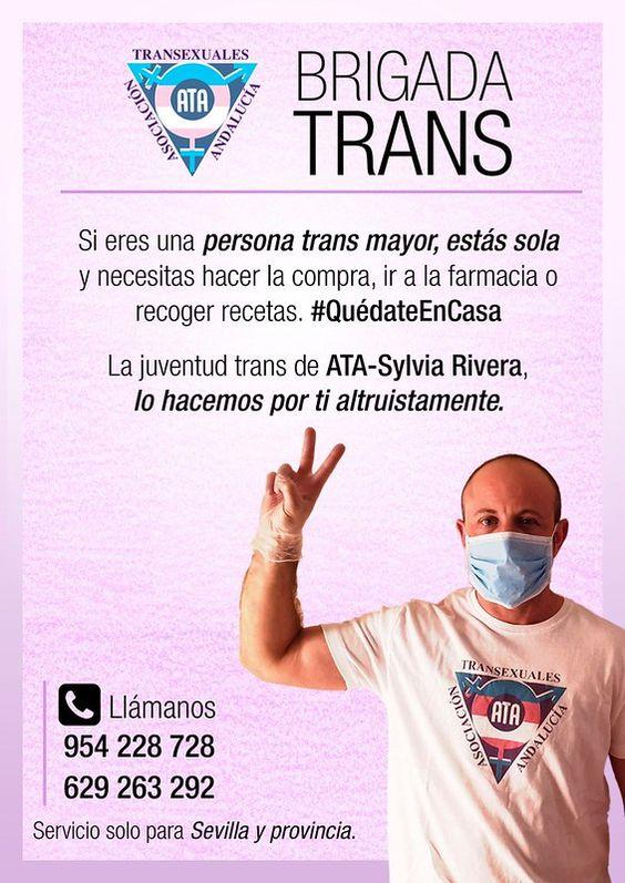 ATA-Sylvia Rivera brinda apoyo a las personas trans durante el confinamiento por el Covid-19