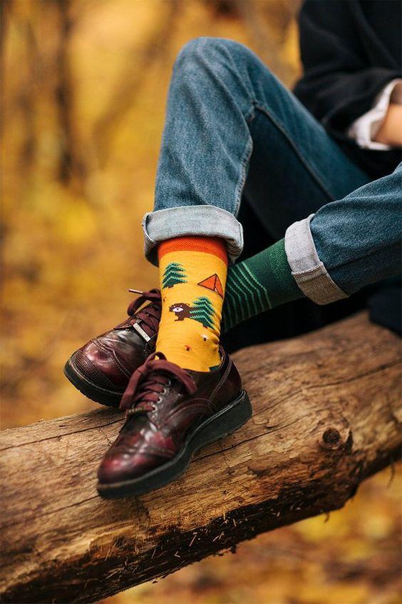 Forrest Pattern Mismatched Socks | Many Mornings