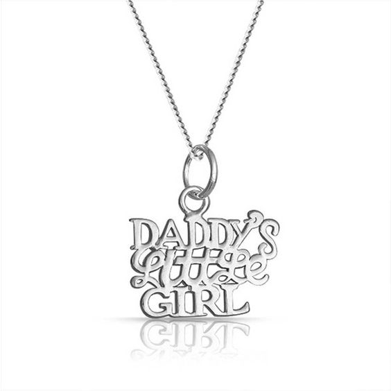 Bling Jewelry Bling Jewelry 925 Silver Daddys Little Girl Pendant... ($15) ❤ liked on Polyvore featuring jewelry, necklaces, grey, pendant necklace, letter necklace pendants, silver initial pendant, silver pendant and initial necklace