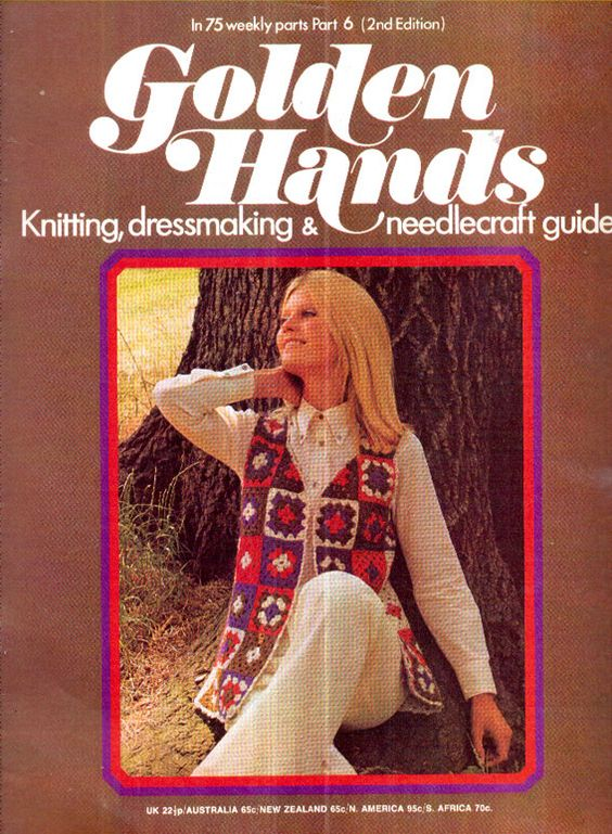 Genuine Original GOLDEN HANDS 1970s Knitting Crochet and Craft Magazine Part 6