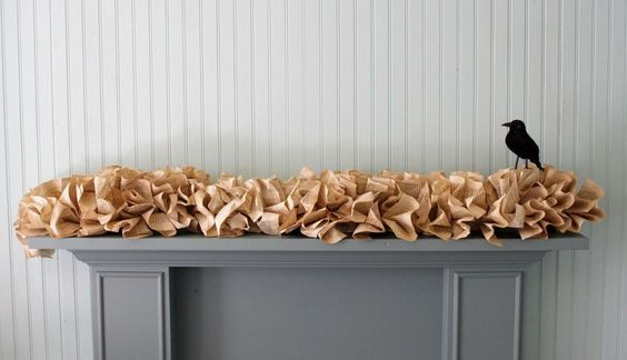 love this! a garland made from book pages.
