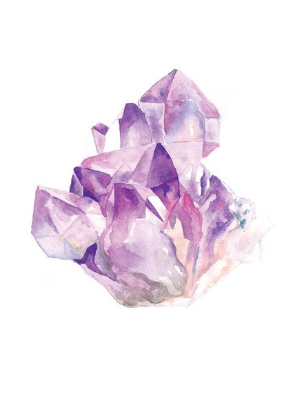 Amethyst Cluster Canvas Print   Canvas prints, Canvases ...